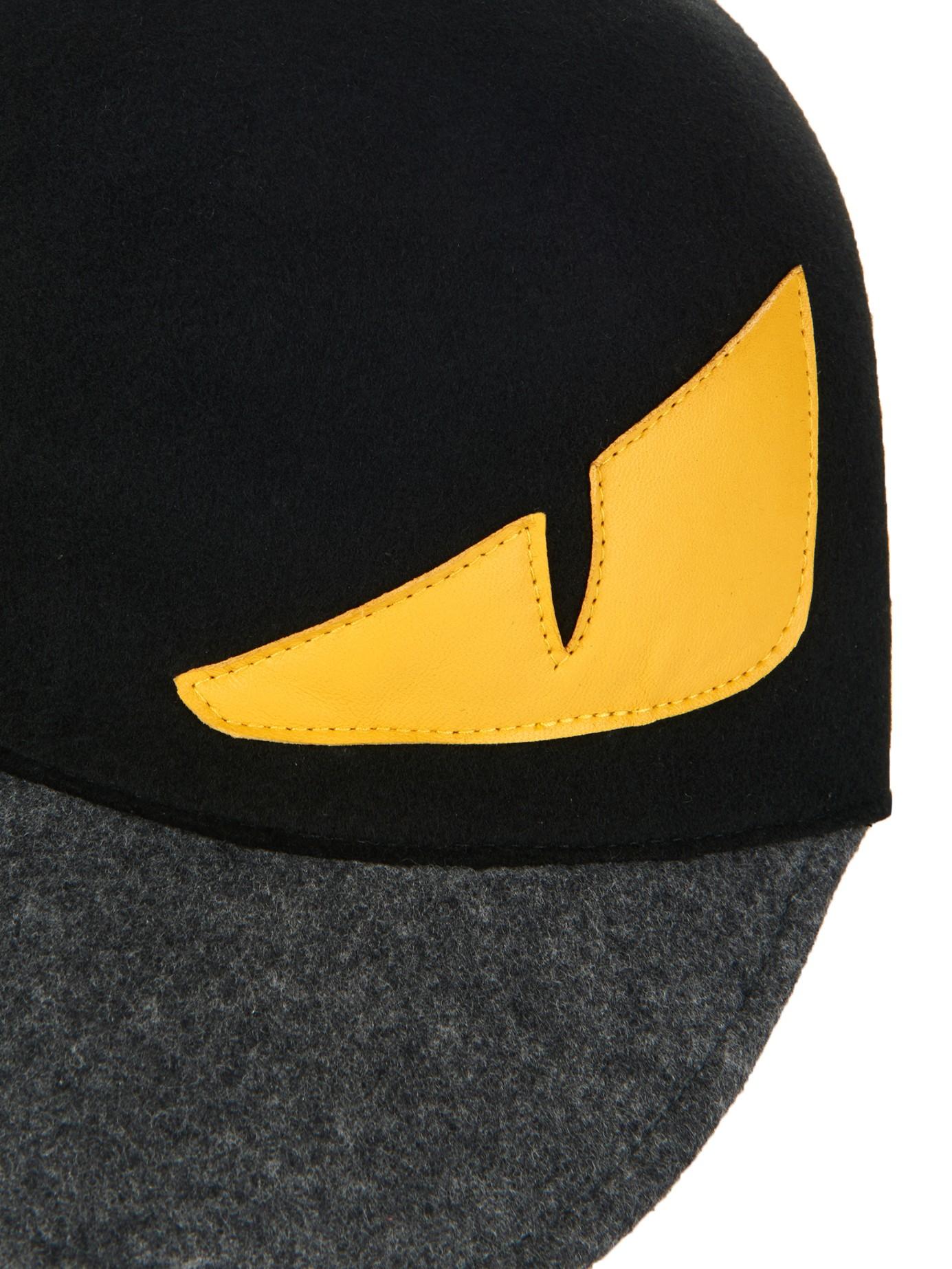 193b520beb1941 Fendi Monster Eyes Wool-Felt Cap in Black for Men - Lyst