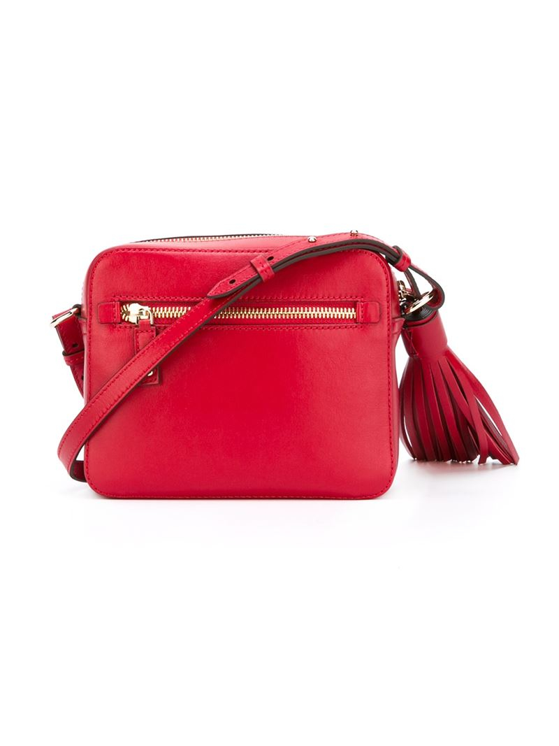 Anya Hindmarch Smiley Crossbody Bag In Red Lyst