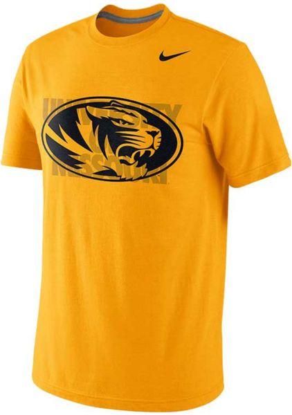 nike mens missouri tigers symbol triblend tshirt in