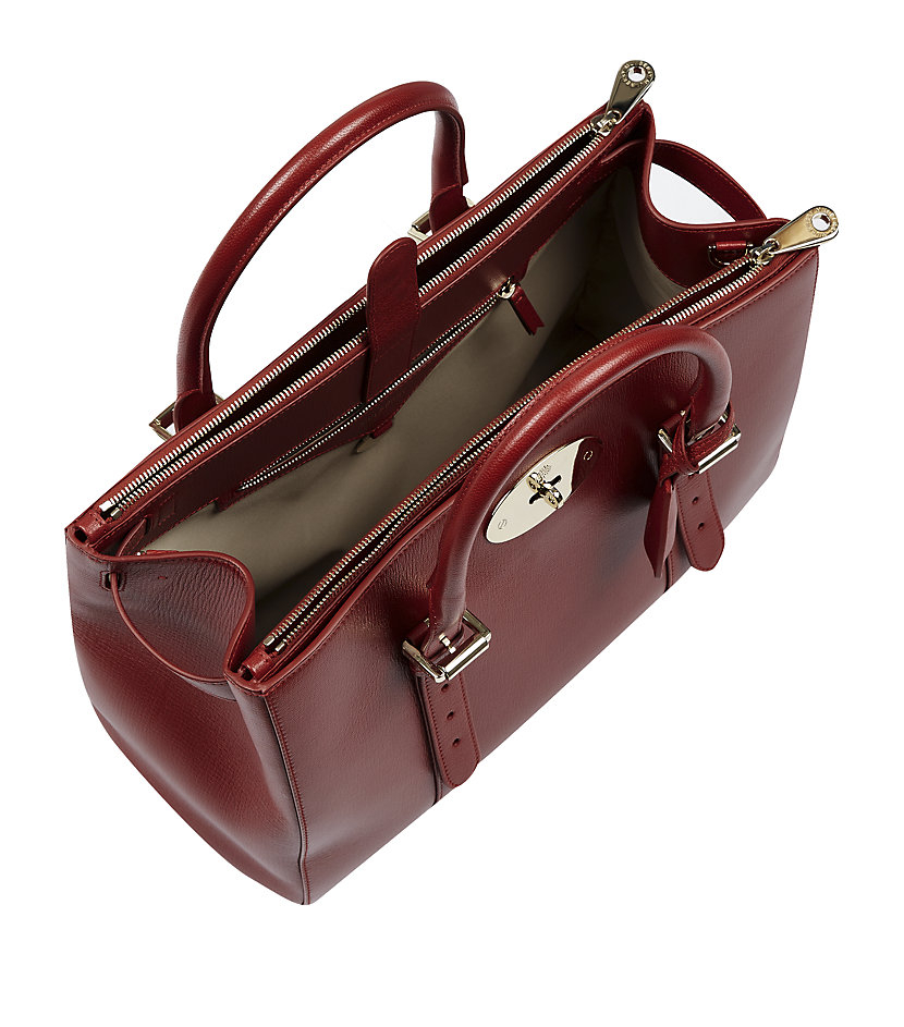 Mulberry Bayswater Double Zip Tote in Red - Lyst 5d4eaf9c9e39b
