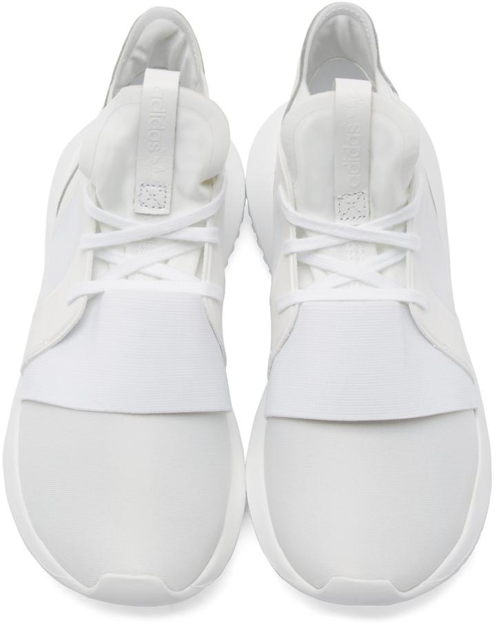 White Tubular Defiant Sneakers