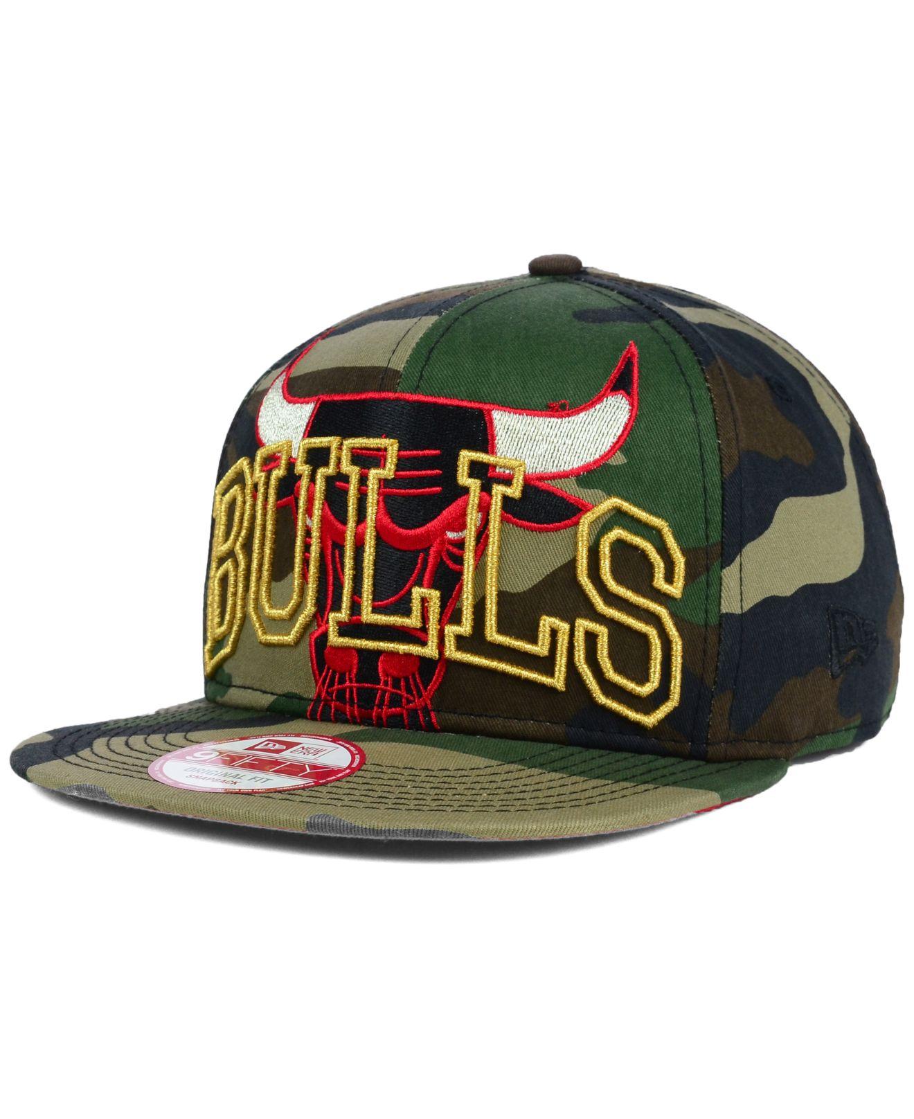 brand new 1751e 1ab09 KTZ Chicago Bulls Metallic Cue Original Fit 9Fifty Snapback Cap in ...