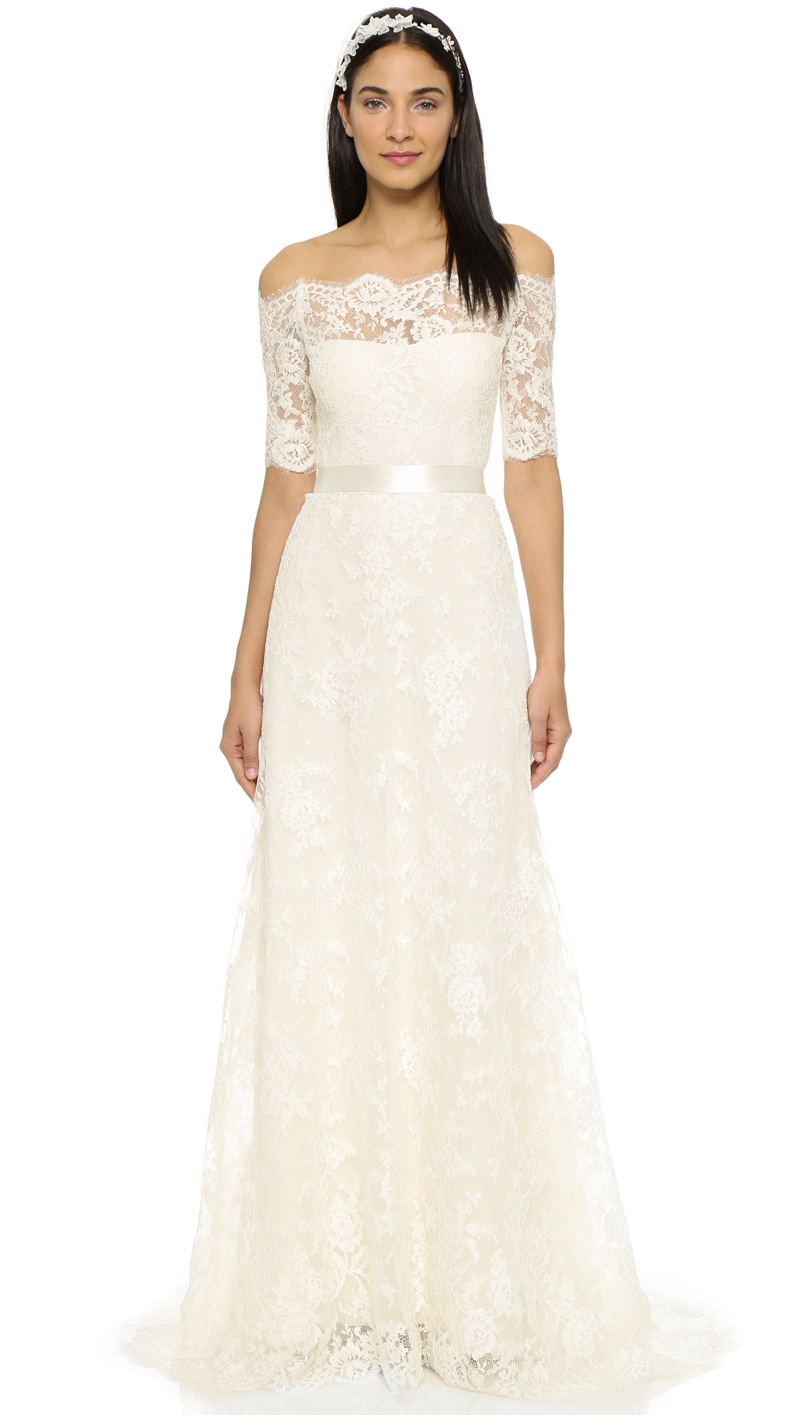 Marchesa Zinnia Gown in Natural