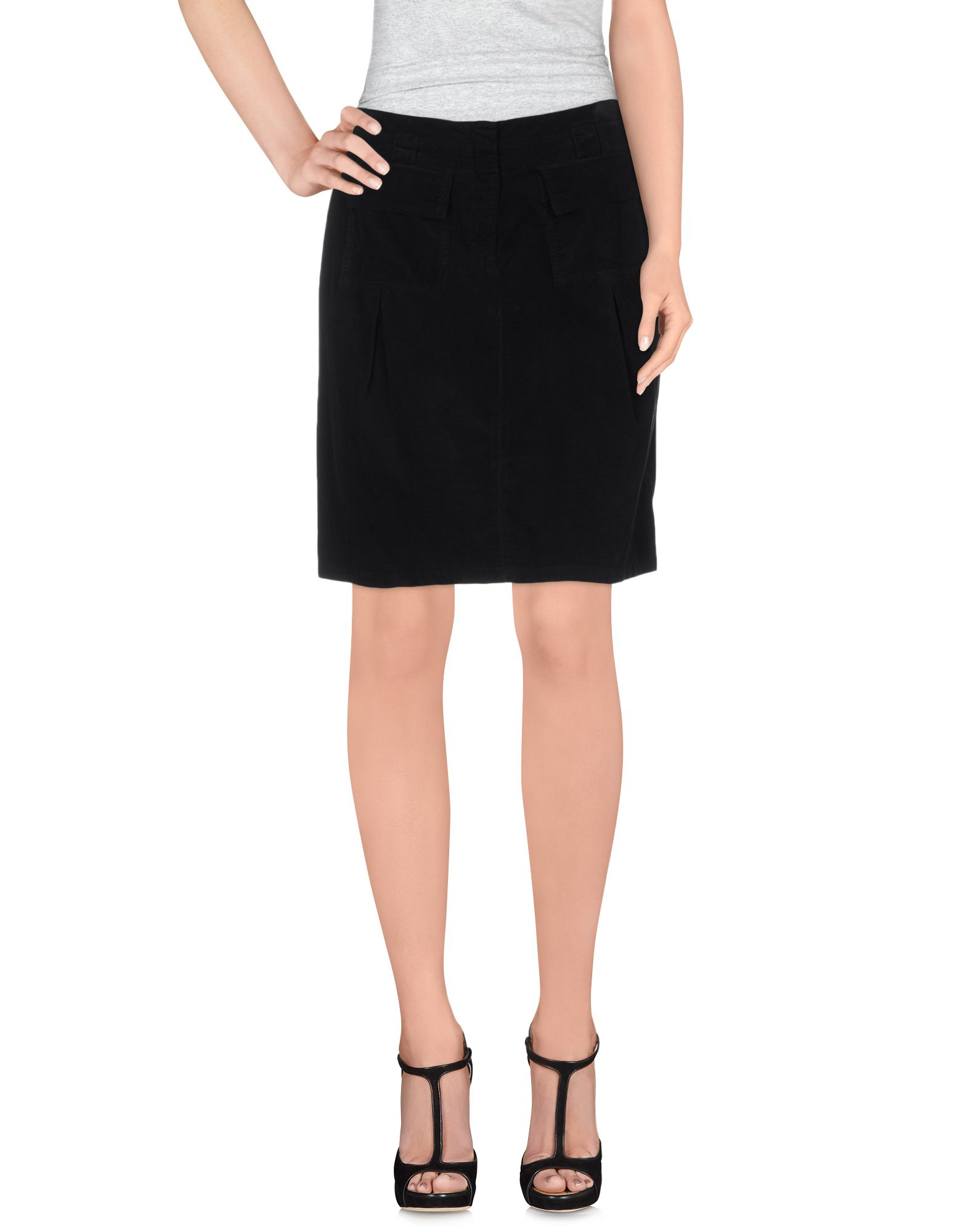 pianurastudio knee length skirt in black lyst