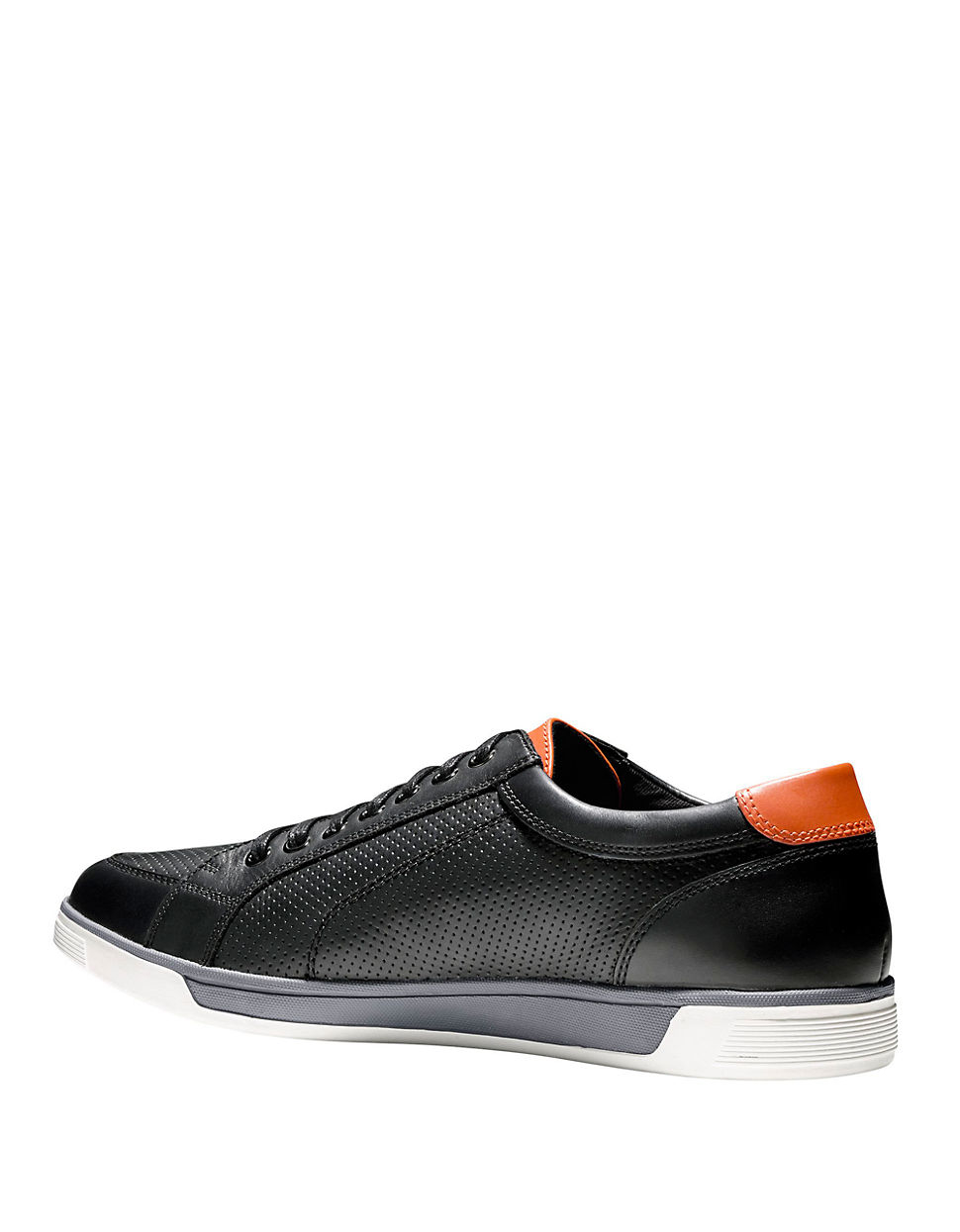 Cole haan Leather Lace-up Sneakers in Black for Men