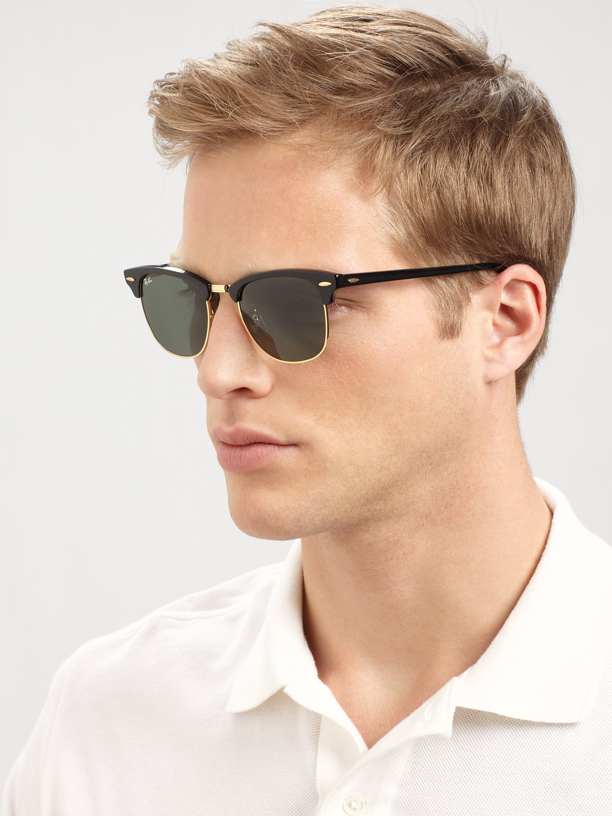 Ray Ban Classic Clubmaster Sunglasses  ray ban classic clubmaster sunglasses in black for men lyst
