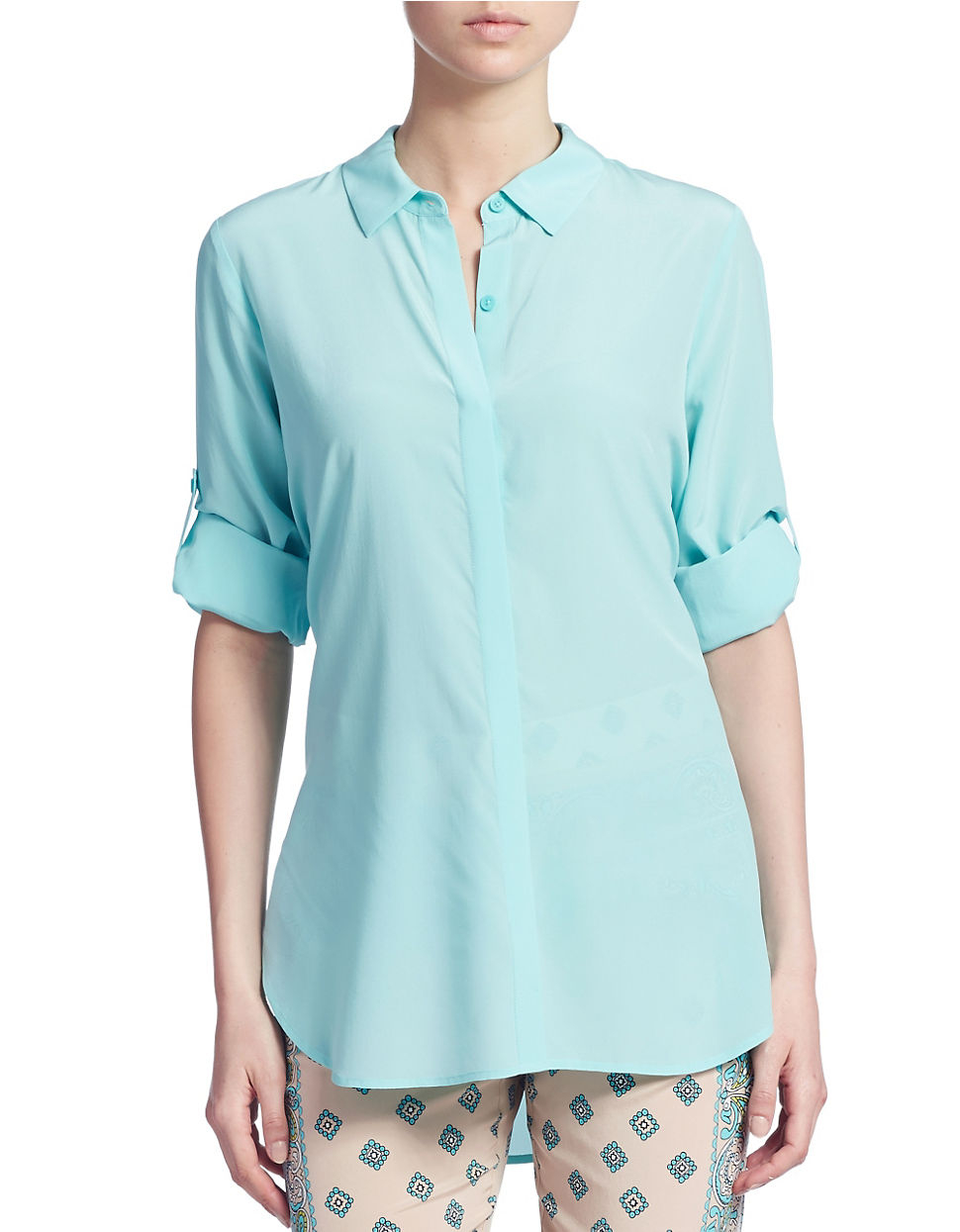 Find silk button down blouse at ShopStyle. Shop the latest collection of silk button down blouse from the most popular stores - all in one place.