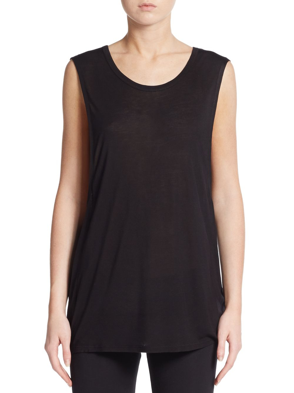 57e65d2f7 Lyst - Betsey Johnson Fly With Me Muscle Tank Top in Black