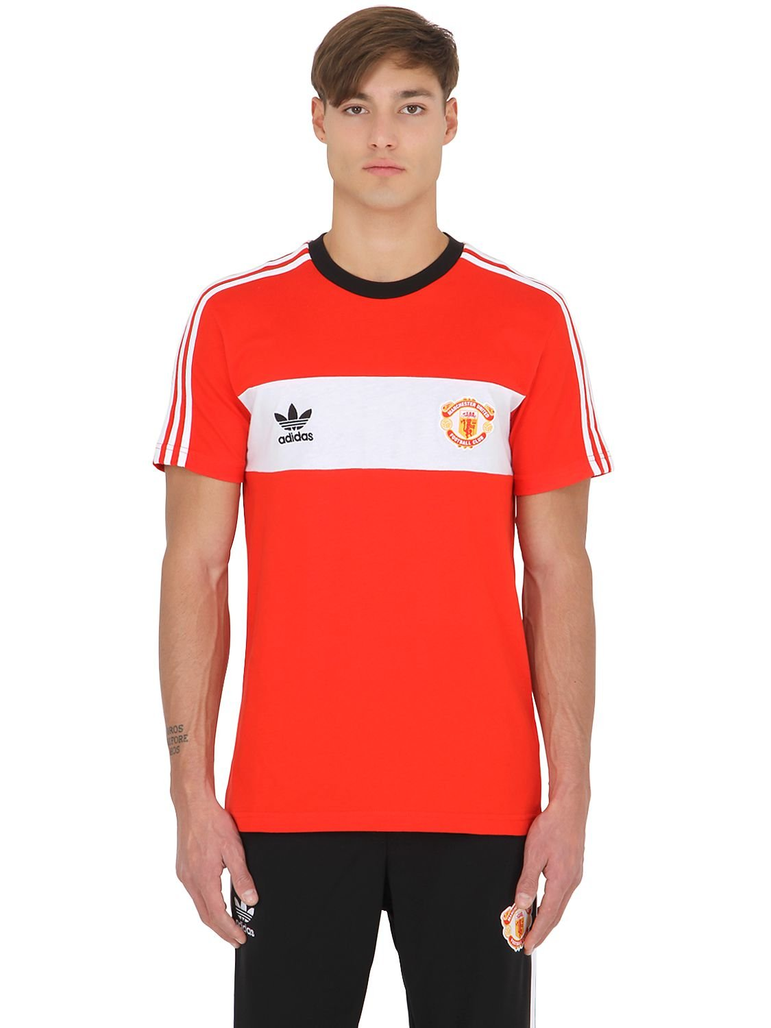 d107f22c2 adidas Originals Limit.ed Manchester United T-shirt in Red for Men ...