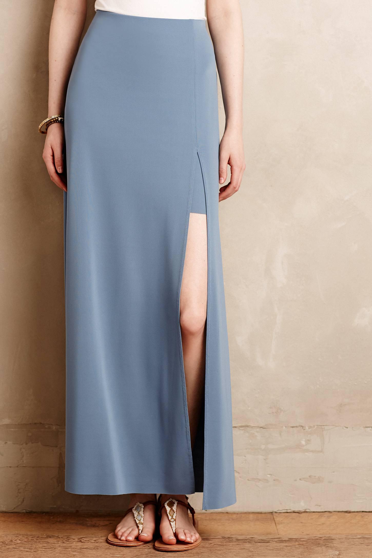 bailey 44 hightide maxi skirt in blue lyst