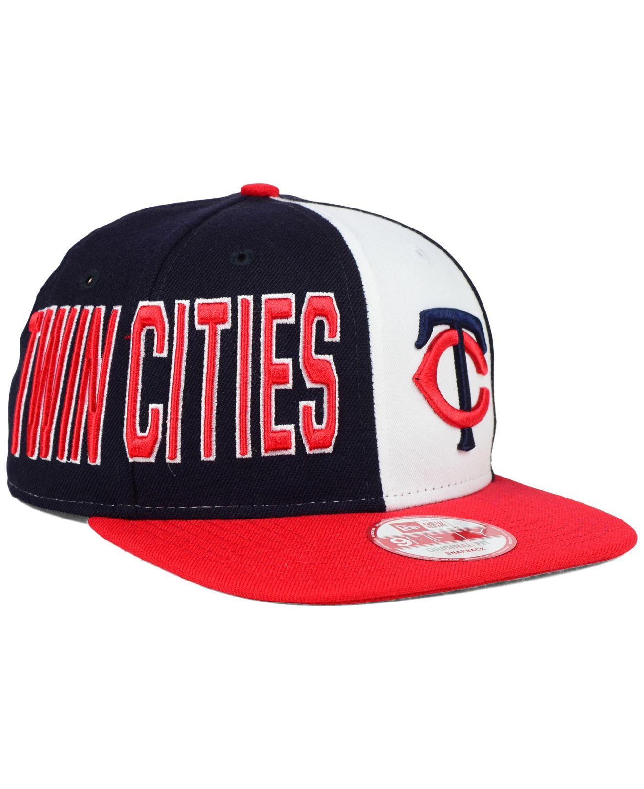 quality design f41de bea46 ... discount code for lyst ktz minnesota twins my block 9fifty snapback cap  in blue for men