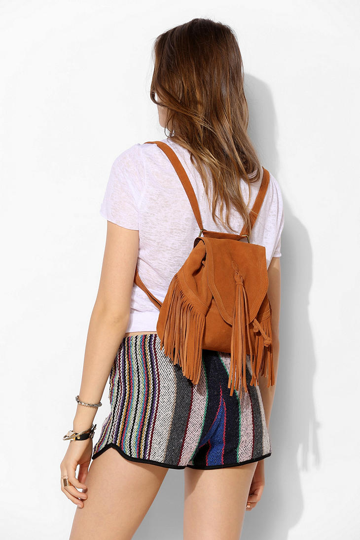 Ecote Sahara Suede Convertible Mini Backpack in Brown | Lyst