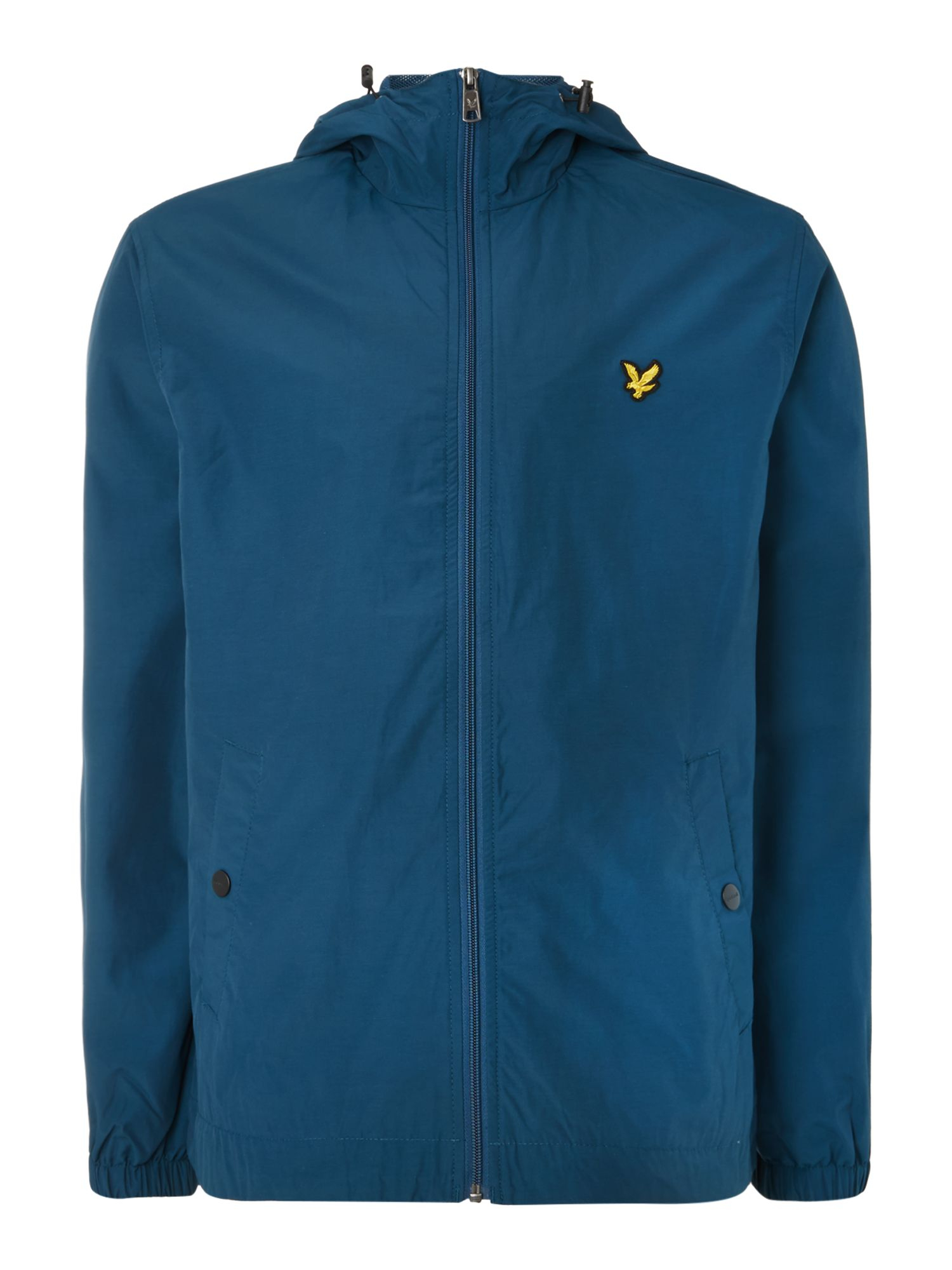 lyle scott zip through hooded jacket in blue for men lyst. Black Bedroom Furniture Sets. Home Design Ideas