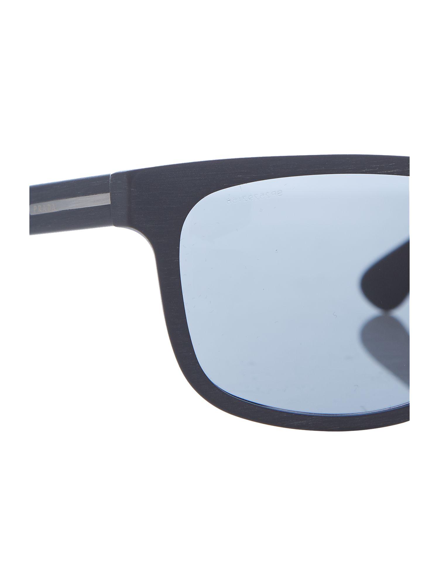 381790cb5d1e ... 50% off prada 0pr 15rs rectangle sunglasses in blue for men lyst 4fb96  2c9c1