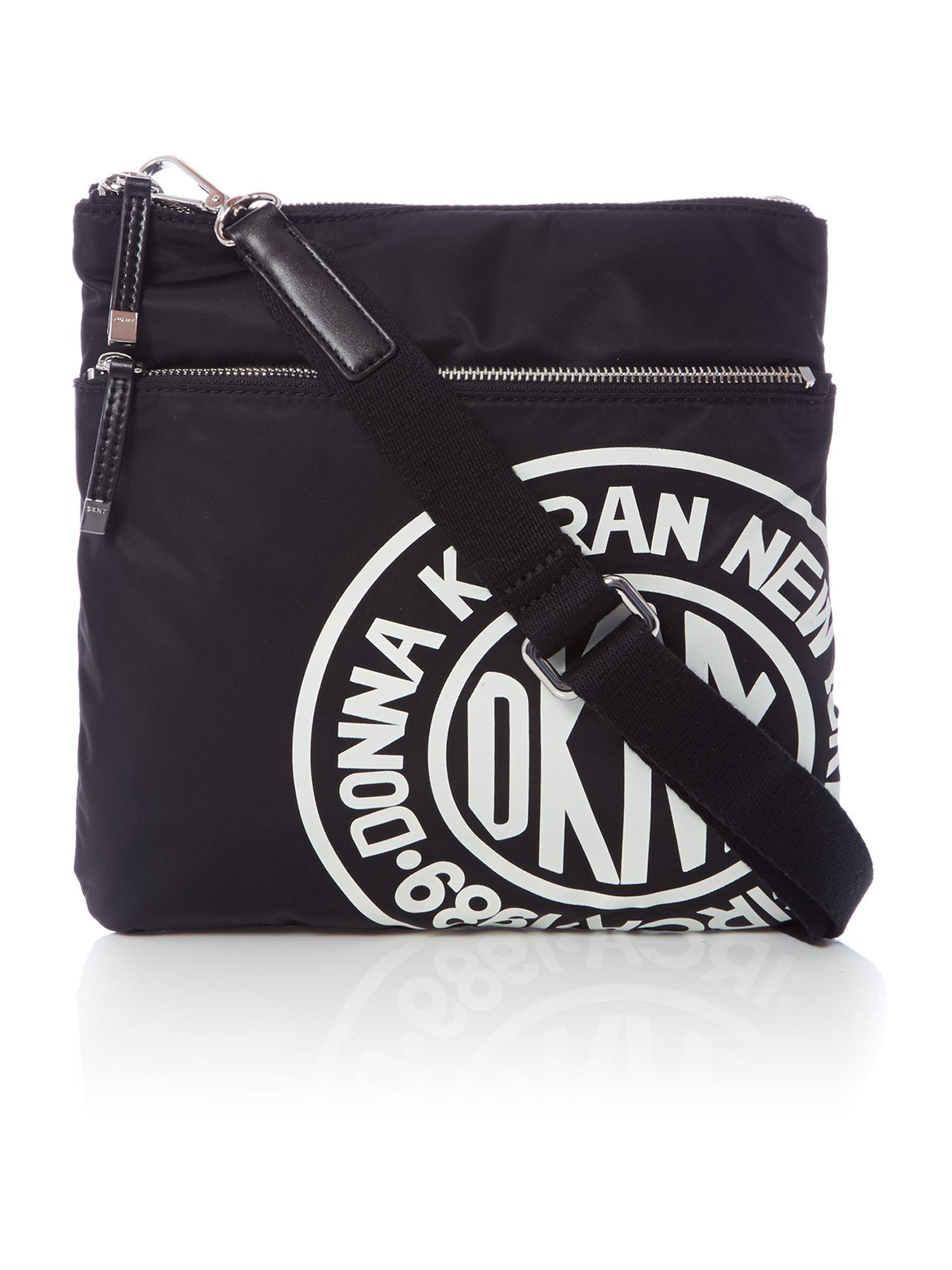DKNY Black Logo Crossbody Bag