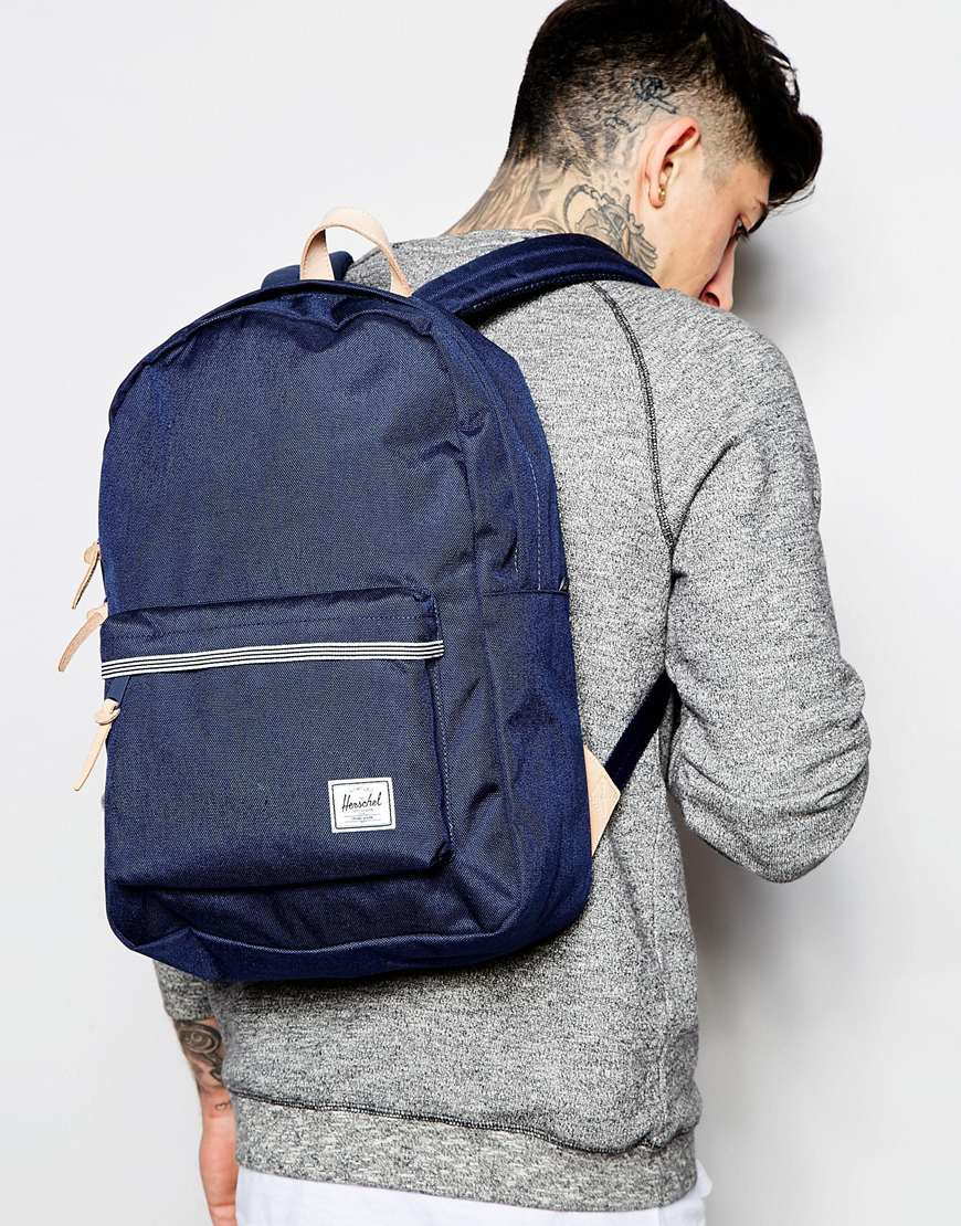 3fe1981af96 Herschel Supply Co. Winlaw Backpack In Cordura 16.75l With Leather Trim in  Blue for Men - Lyst