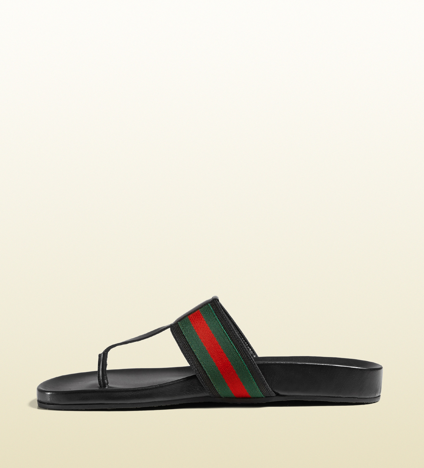 d561908f6a7ed2 Lyst - Gucci Web Strap Sandal in Black for Men