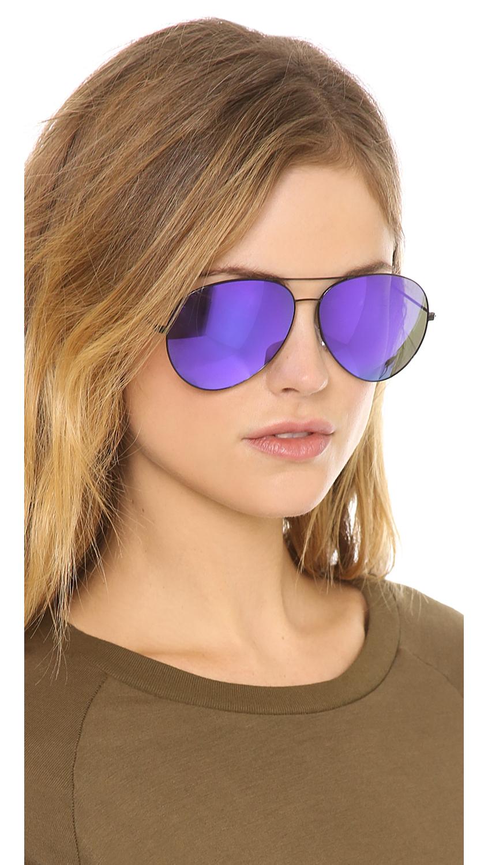 cd54db4fd076f Victoria Beckham Classic Aviator Sunglasses - Midnight Eclipse in Blue -  Lyst