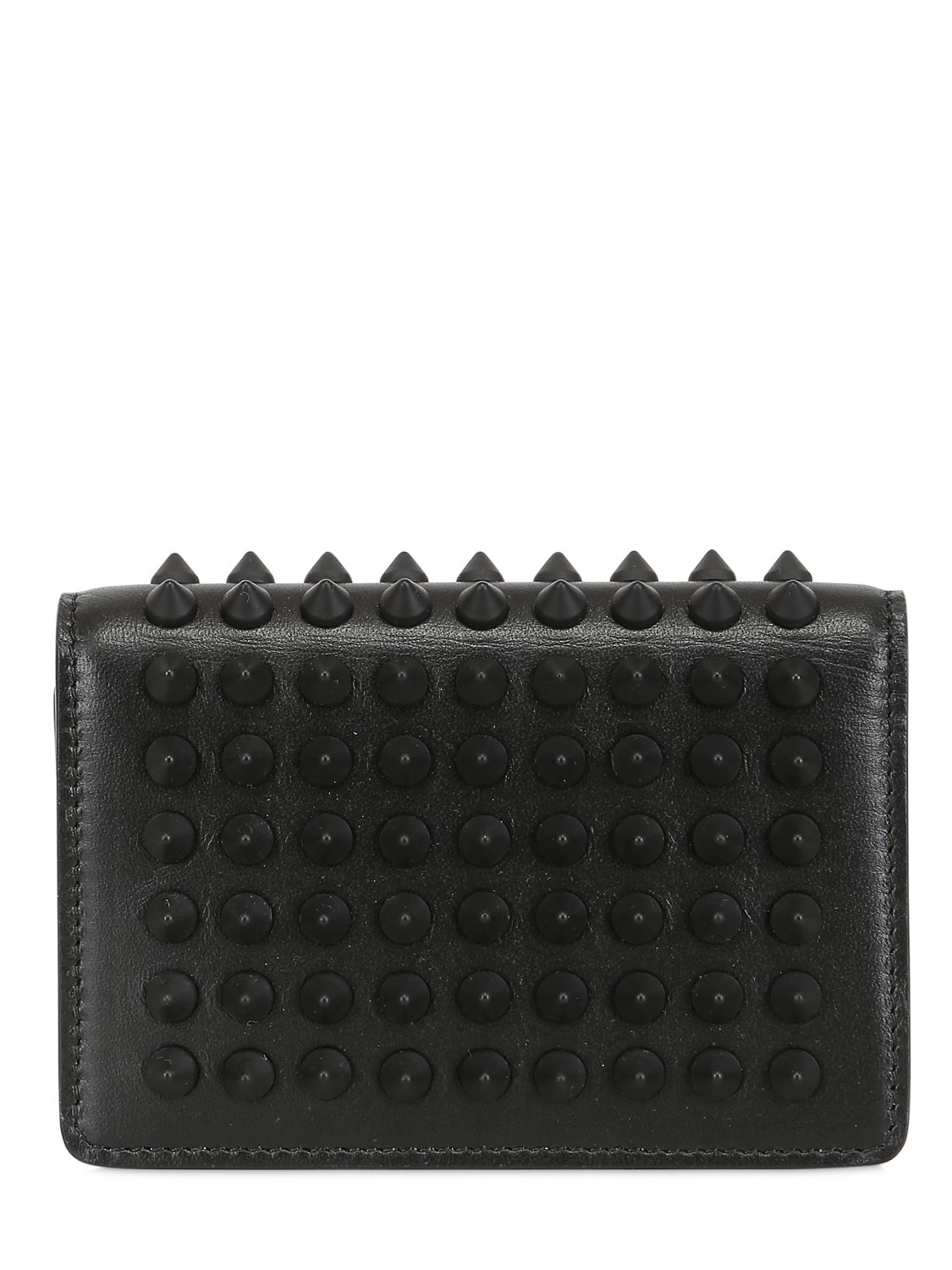 d68641aa8b8 Christian Louboutin Black Milos Calf Spikes Credit Card Holder for men