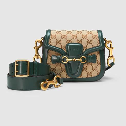 Gucci Lady Web Gg Canvas Shoulder Bag | Lyst