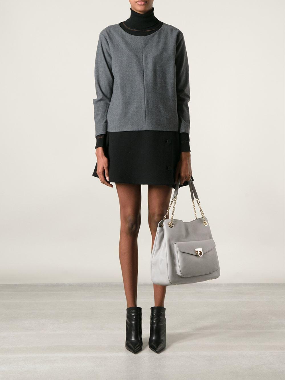 Ferragamo Sheba Tote in Grey (Grey)
