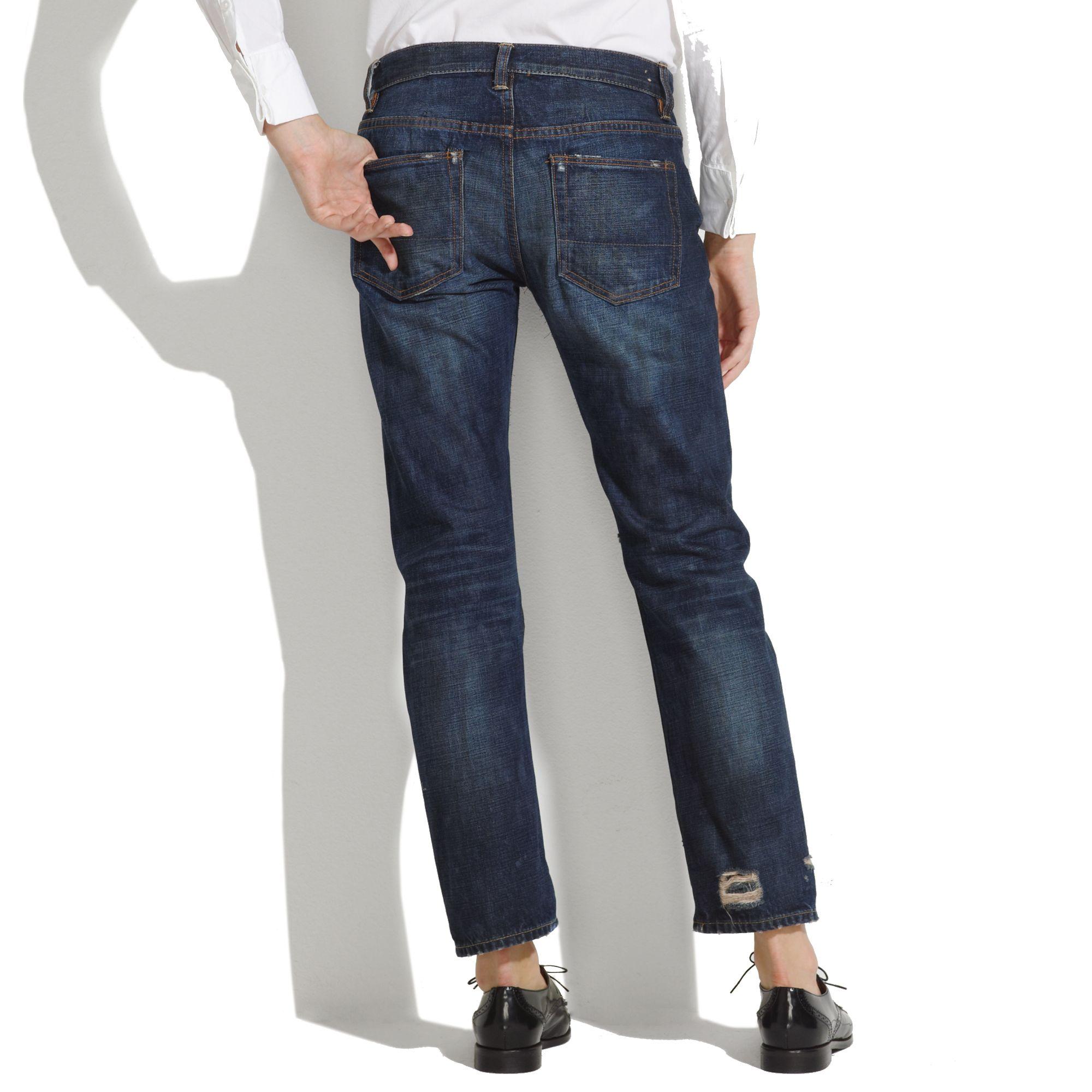 Madewell Nsfreg Beck Boyfriend Jeans in Blue