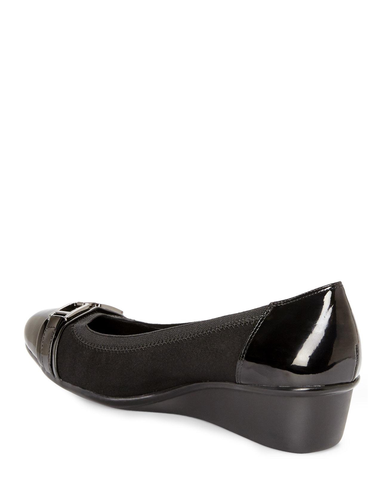 4476169a1d1 Lyst anne klein carly in black jpg 1280x1600 Anne klein sport wedge shoes