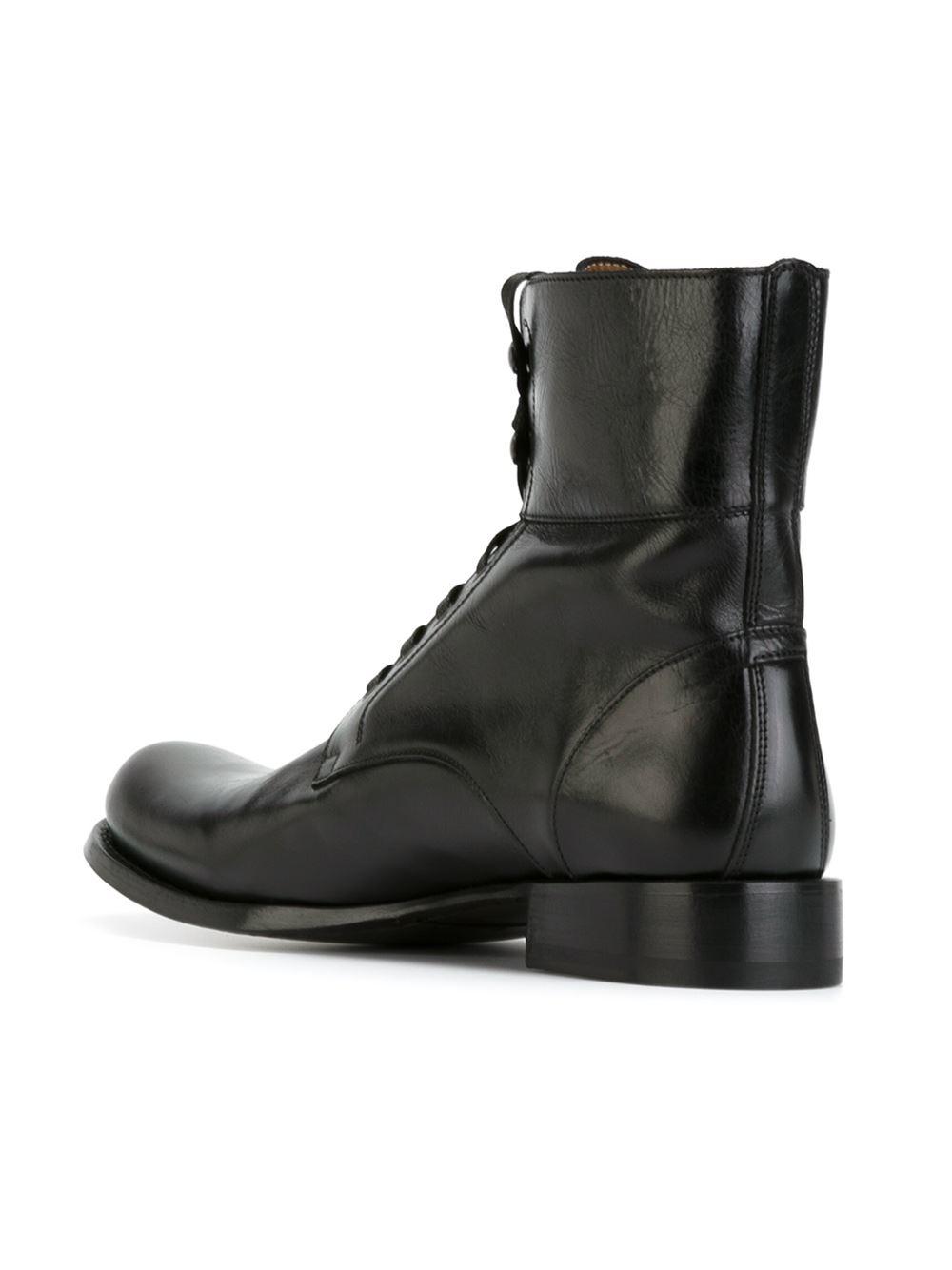 John Varvatos Lace Up Boots In Black For Men Lyst
