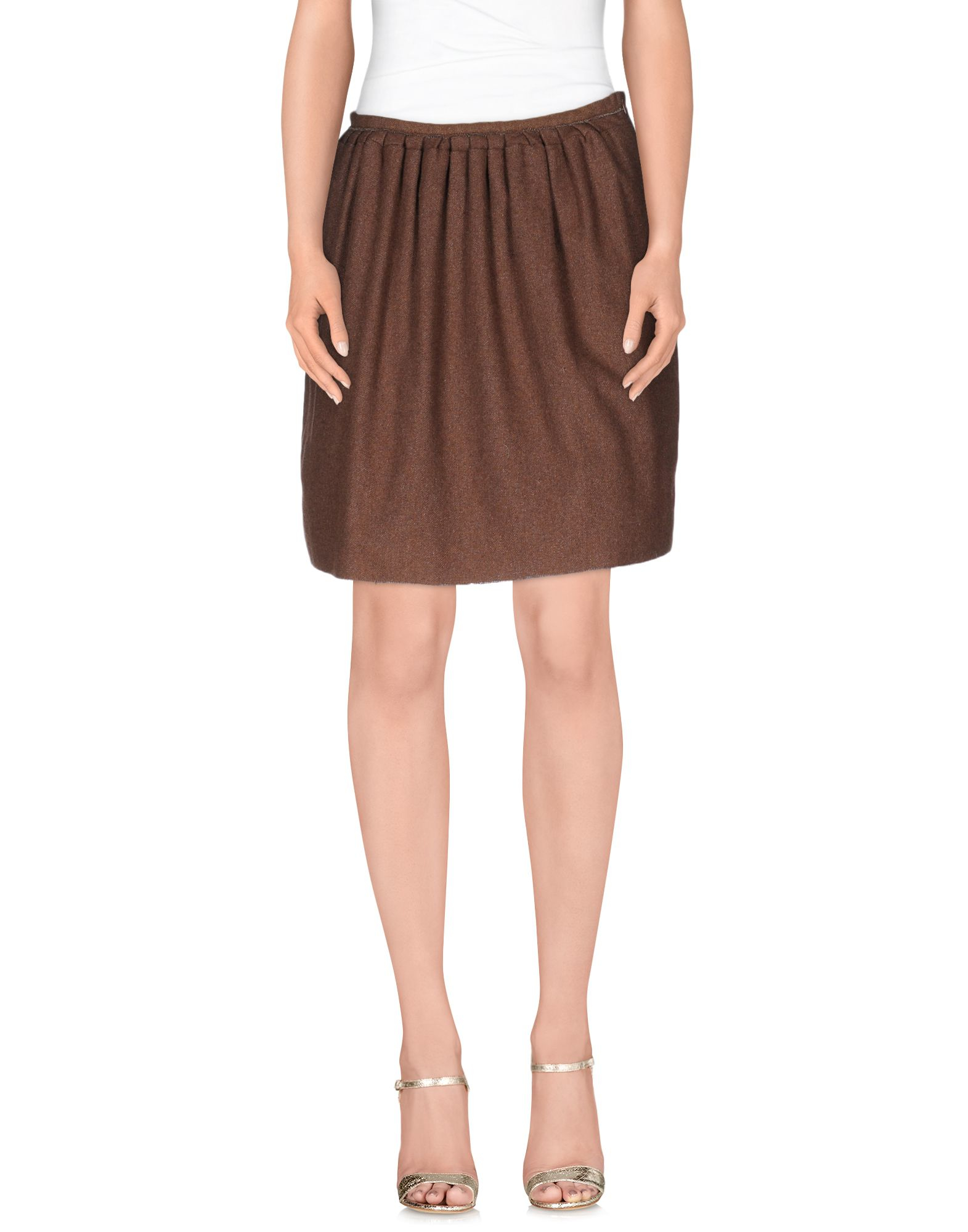 douuod knee length skirt in khaki save 73 lyst