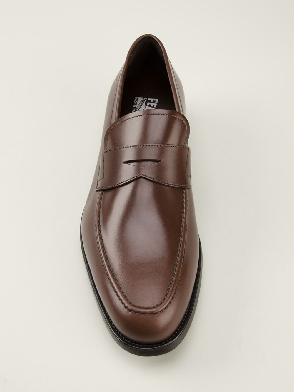 Ferragamo Penny Loafers in Brown for