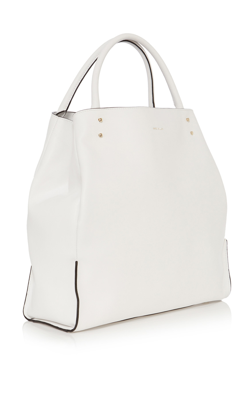 Karen Millen Ltd Edition Oversize Tote in White