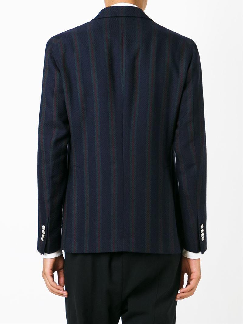 Blazers For Men Pinterest: Tagliatore Striped Double-Breasted Blazer In Blue