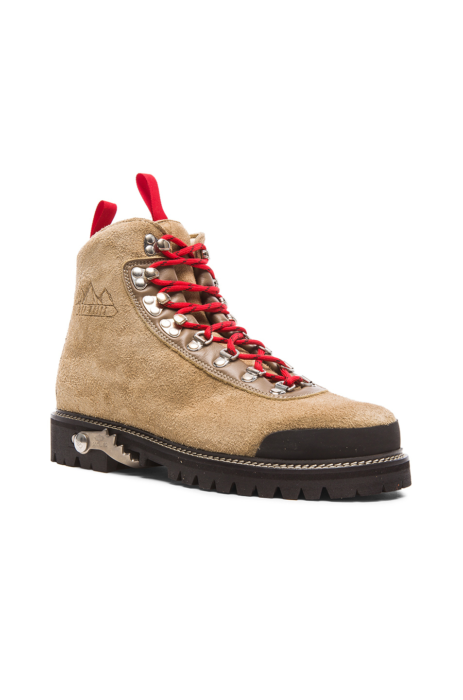 Off-white c/o virgil abloh Suede Hiking Boots in Natural ...