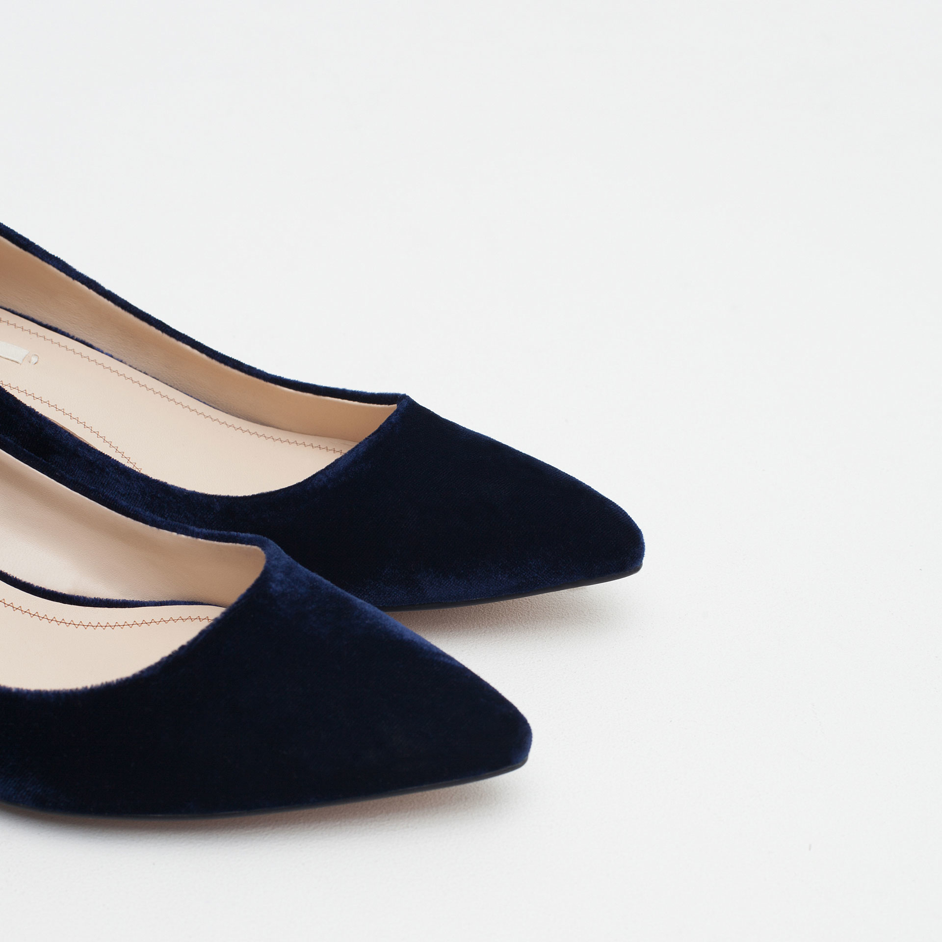 Zara Combined Leather Flat Shoes