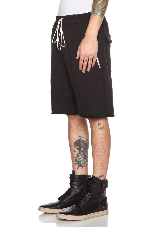 Fear Of God Men'S Drop Crotch Cotton Short in Black - Lyst