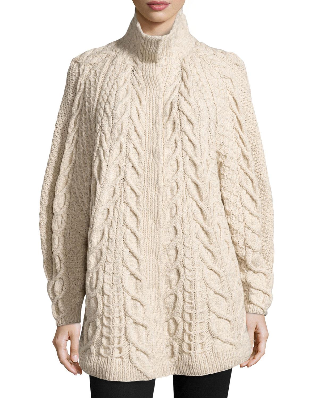 Lyst Oscar De La Renta Cashmere Hand Knit Sweater In White