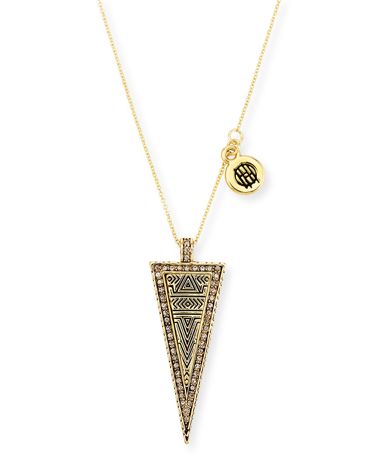 house of harlow 1960 sparkling periphery pendant necklace