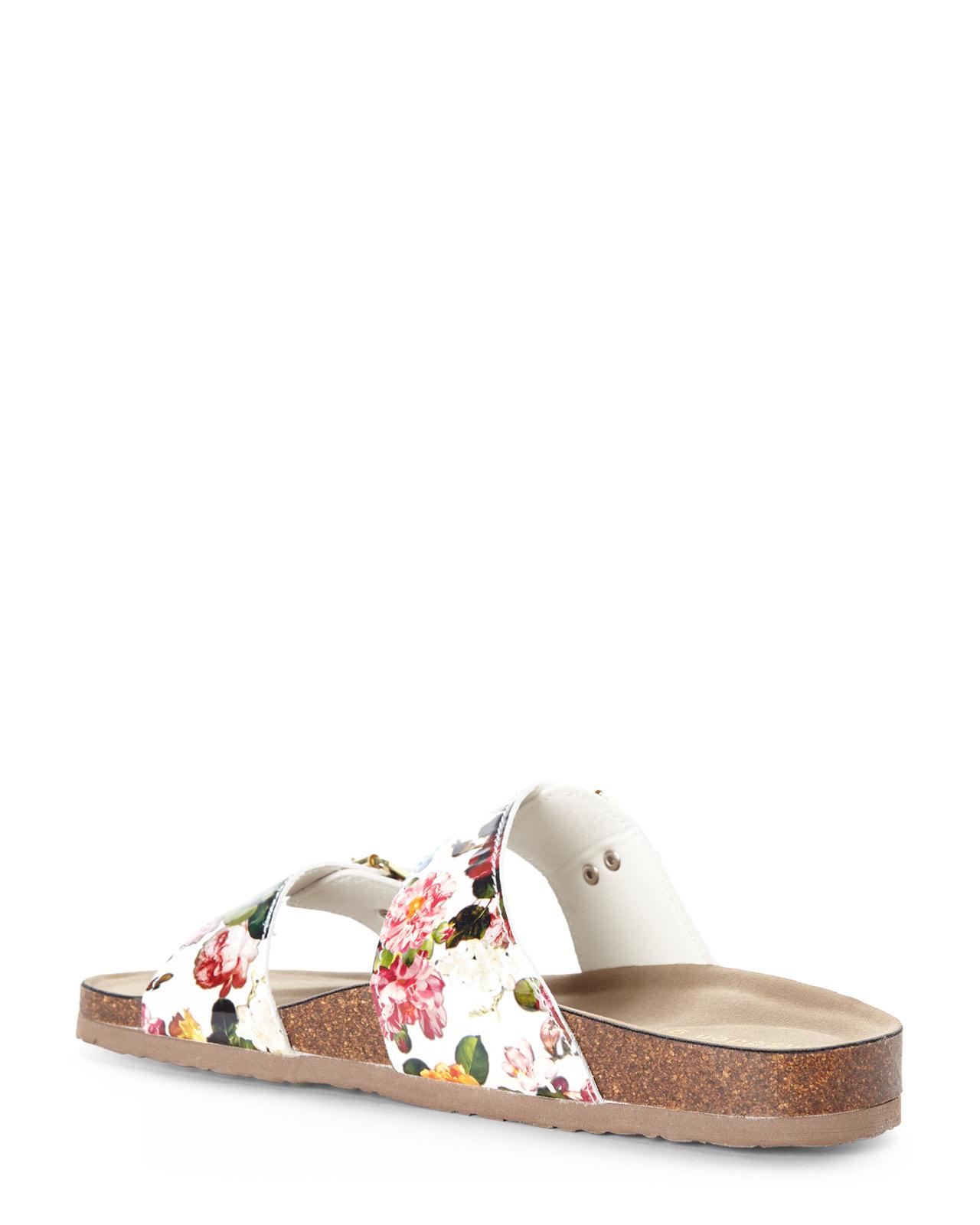 b3a2497f7b9fa Lyst - Madden Girl White Floral Brando Sandals in White
