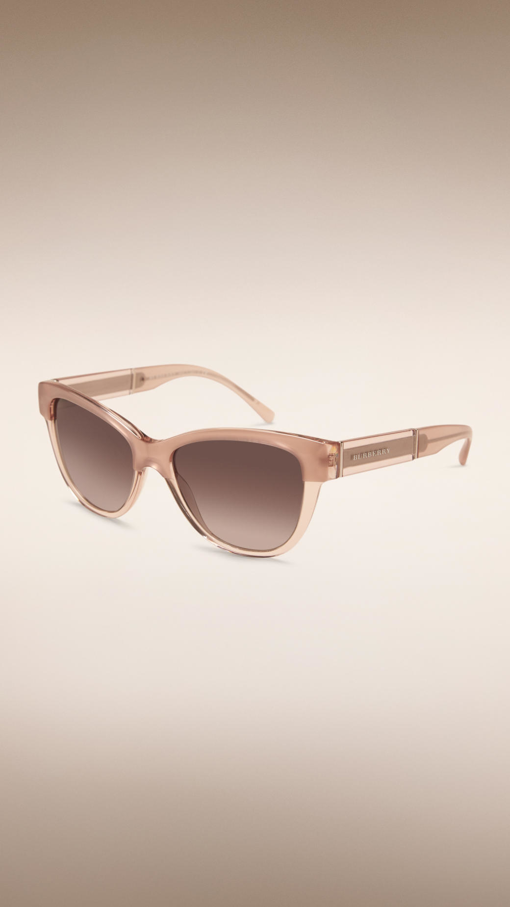 Lyst - Burberry Round Frame Sunglasses In Natural-5296
