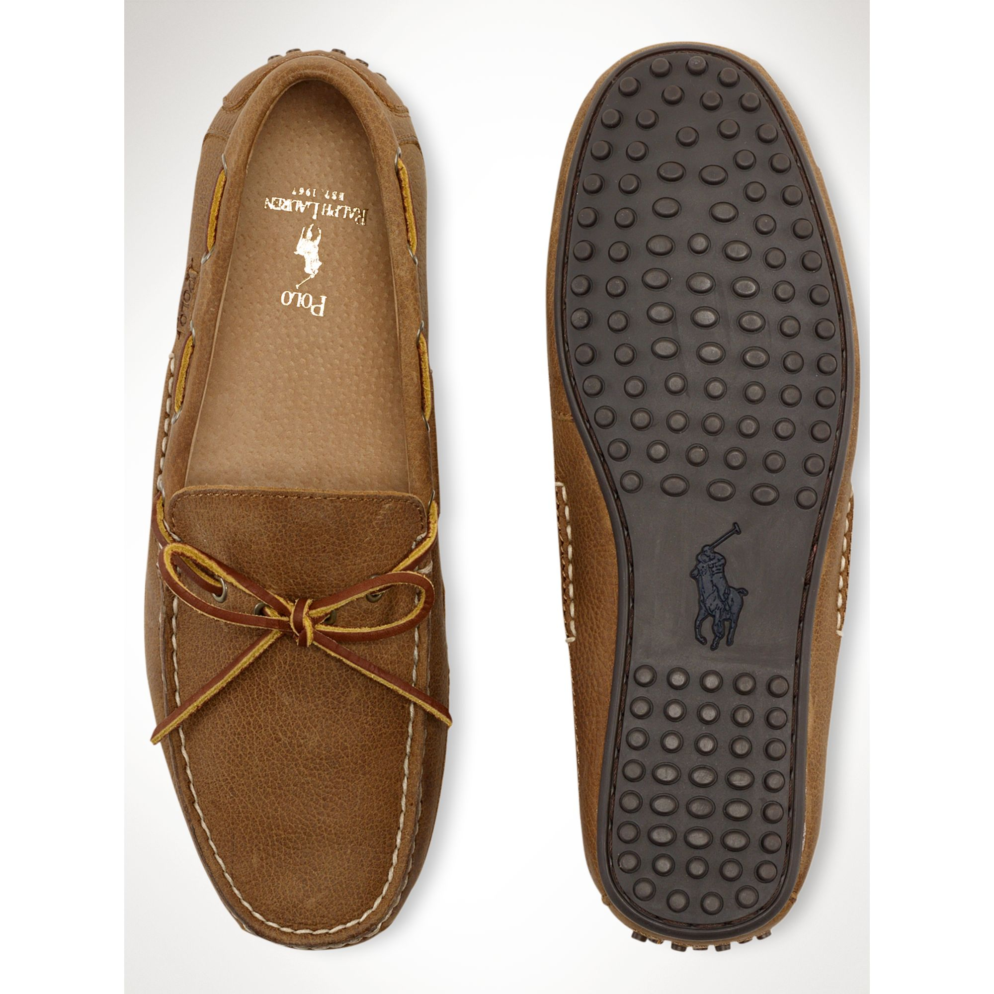 0cf22a4b5c3 Lyst - Polo Ralph Lauren Wyndings Loafer in Brown for Men