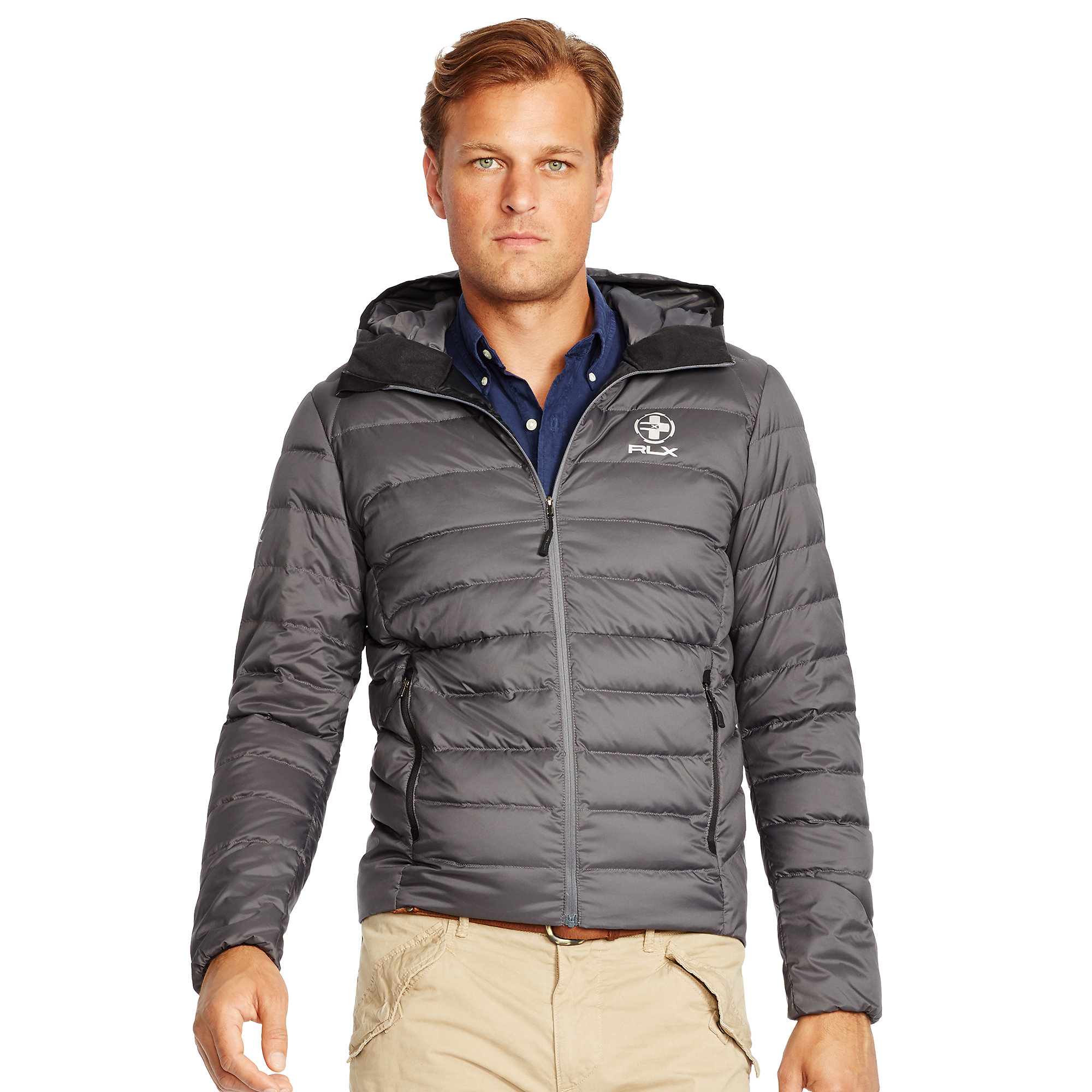 573a82038daf0 Pink Pony Quilted Down Jacket in Gray for Men - Lyst