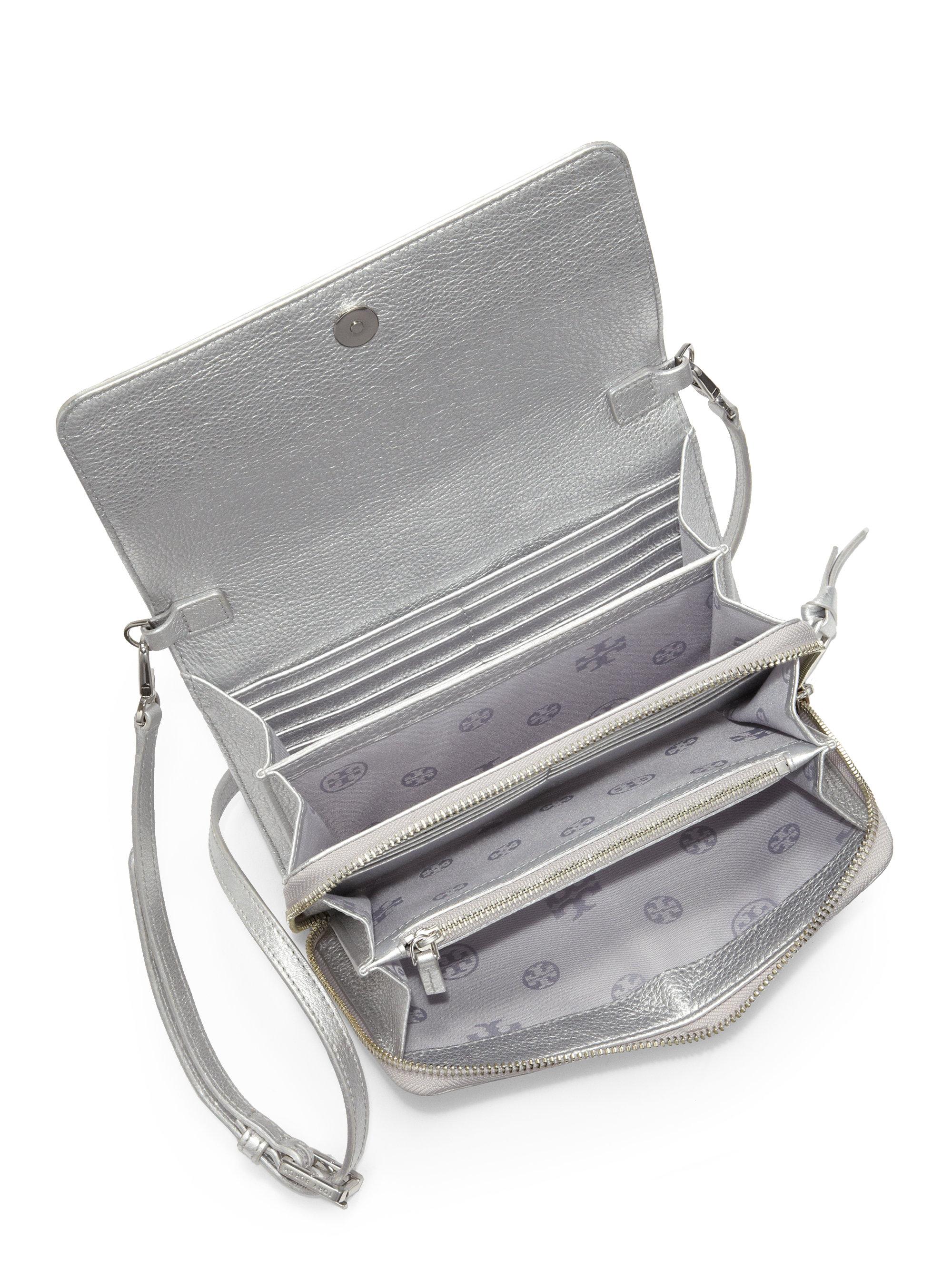 Thea Metallic Wallet Crossbody Bag