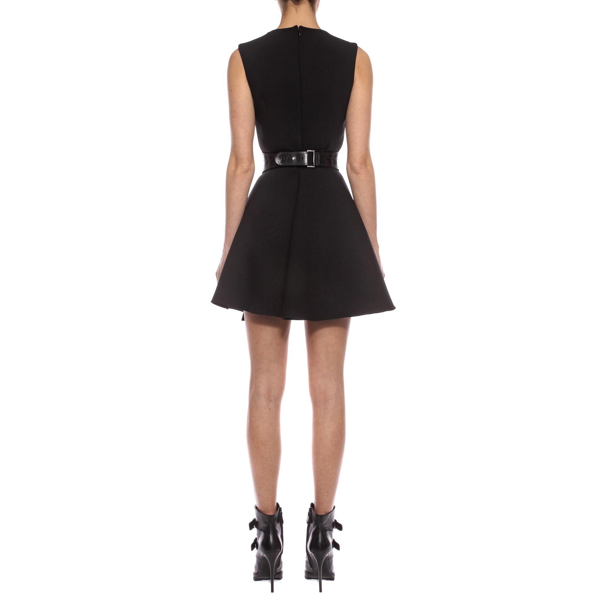 d237cc2f5b Lyst - Alexander McQueen Folded Drape Mini Dress in Black