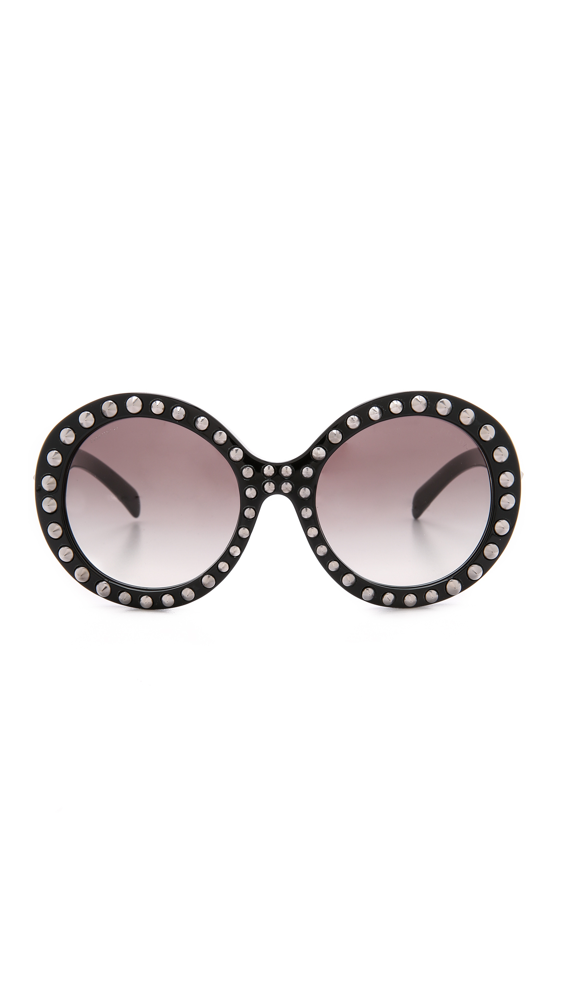 Studded Sunglasses  prada studded sunglasses black grey grant in black lyst