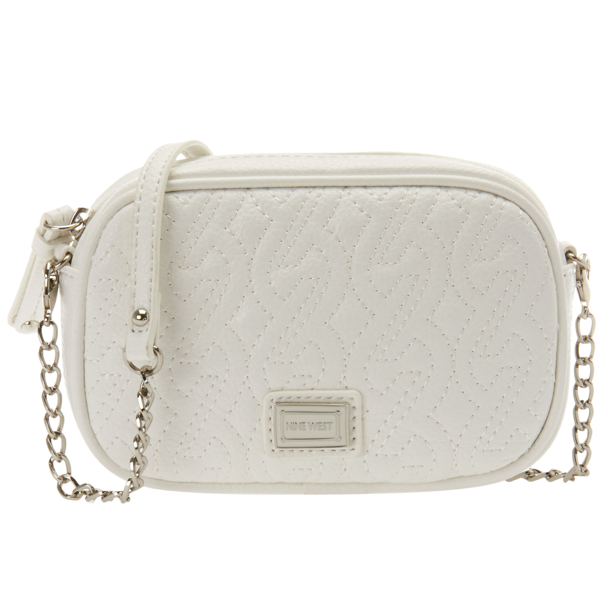 Quilted Crossbody Bag With Chain Detail