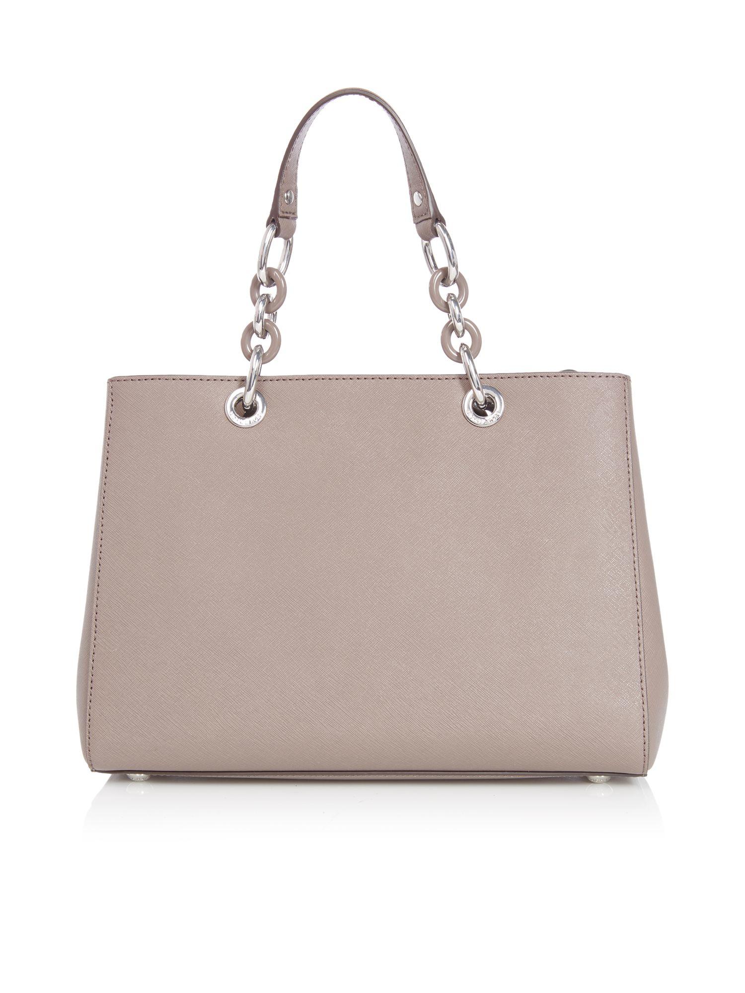 Michael Kors Cynthia Taupe Tote Bag in Brown