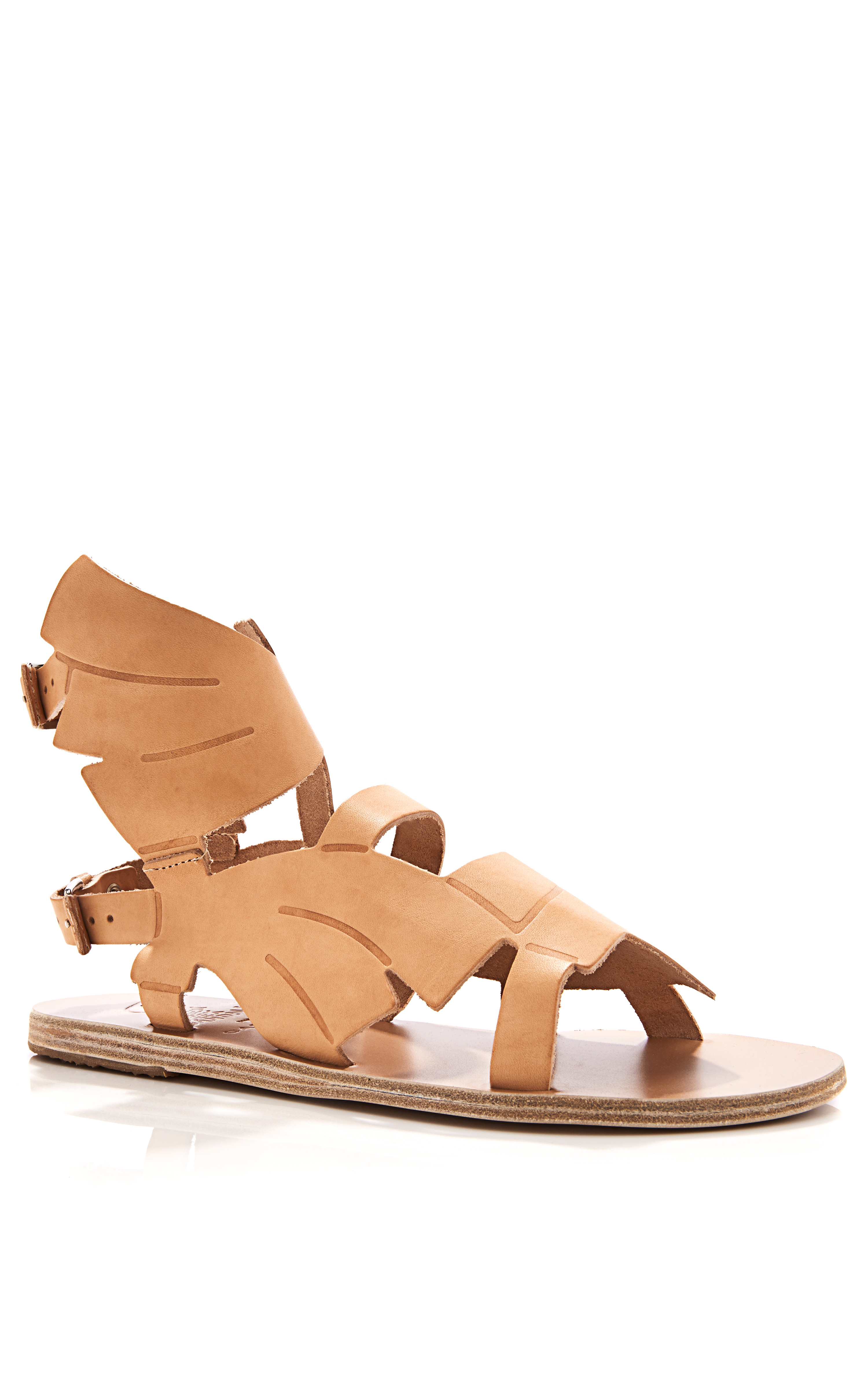 9df89ce00452 Lyst - Ancient Greek Sandals Carven Banana Leaf Winged Leather ...