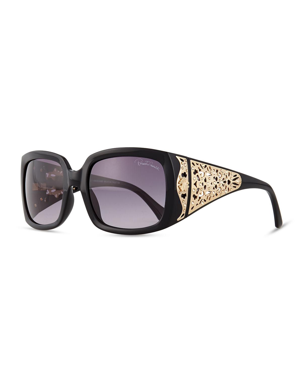 roberto cavalli injected square sunglasses w laser cut