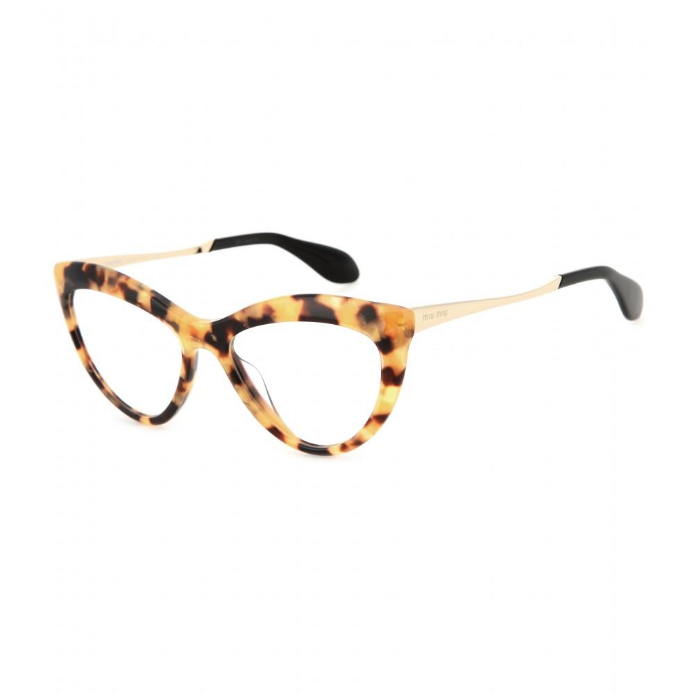 f7e4e689db Lyst - Miu Miu Cat-Eye Optical Glasses in Yellow