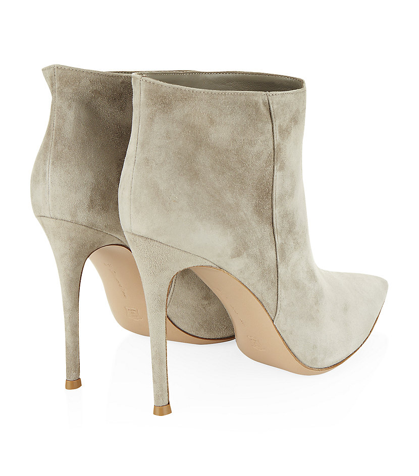 Gianvito Rossi Bara Bith Suede Ankle Boot in Grey